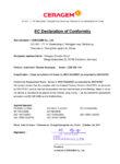 DECLARATIE DE CONFORMITATE MB-1101